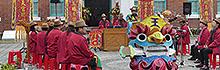 文創園區結合傳統藝術 迎雞送猴五王花燈祭